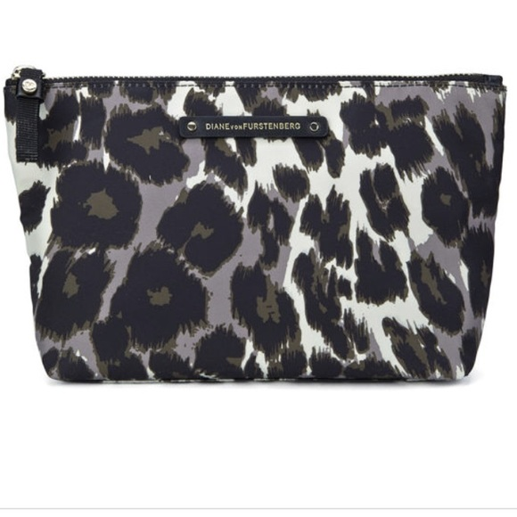 Diane Von Furstenberg Bags   Dvf Nylon Leopard Cosmetic Pouch   Poshmark cac8c6e7a2